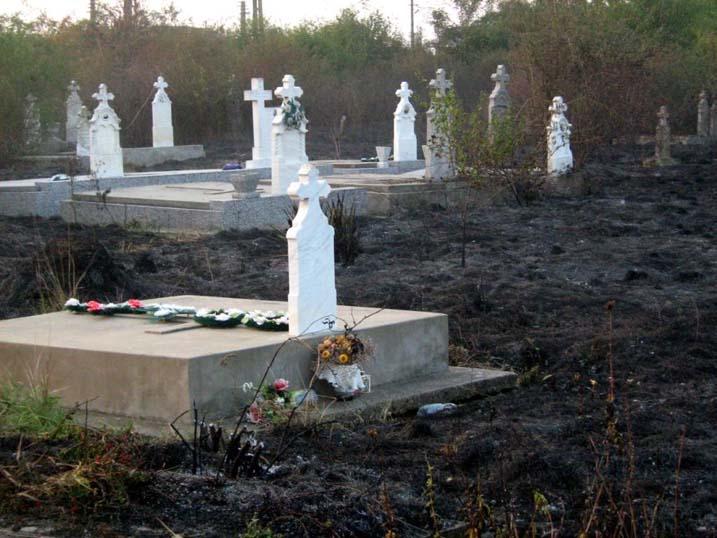 Brand auf dem unteren Friedhof