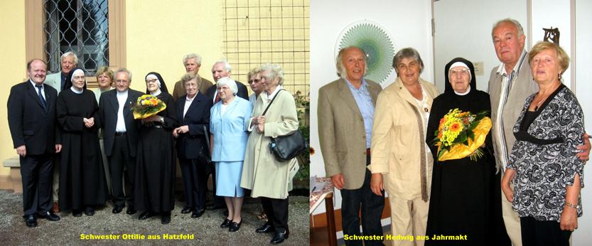 Schwester Ottilie aus Hatzfeld und Schwester Hedwig aus Jahrmarkt