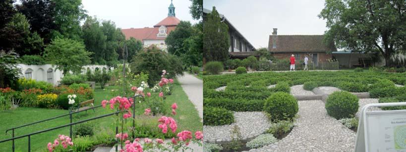 Stiftsgarten und Rosenkranzlabyrinth