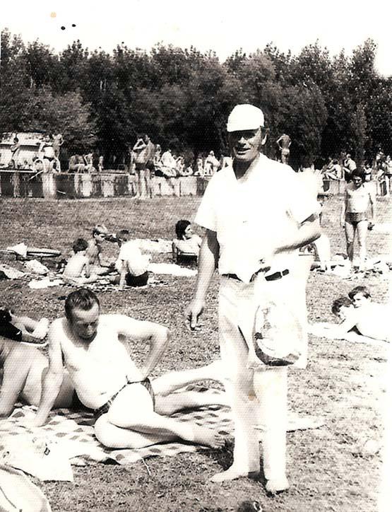 Hans Kuri, immer unter den Badegästen