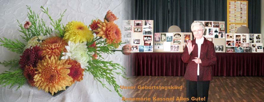 Geburtstagskind Annemarie Kassnel