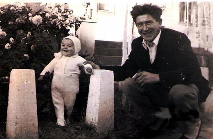 Peter Gries mit Tochter