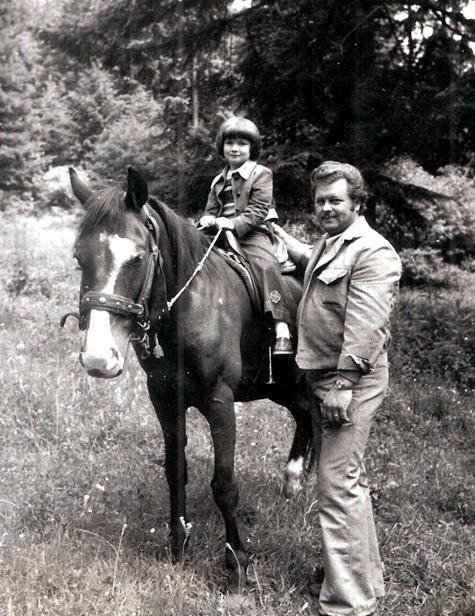 Simone Jost mit Vater Mathias