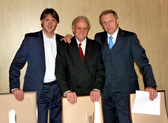 Mathias Knecht mit Söhnen Siegfried und Jürgen